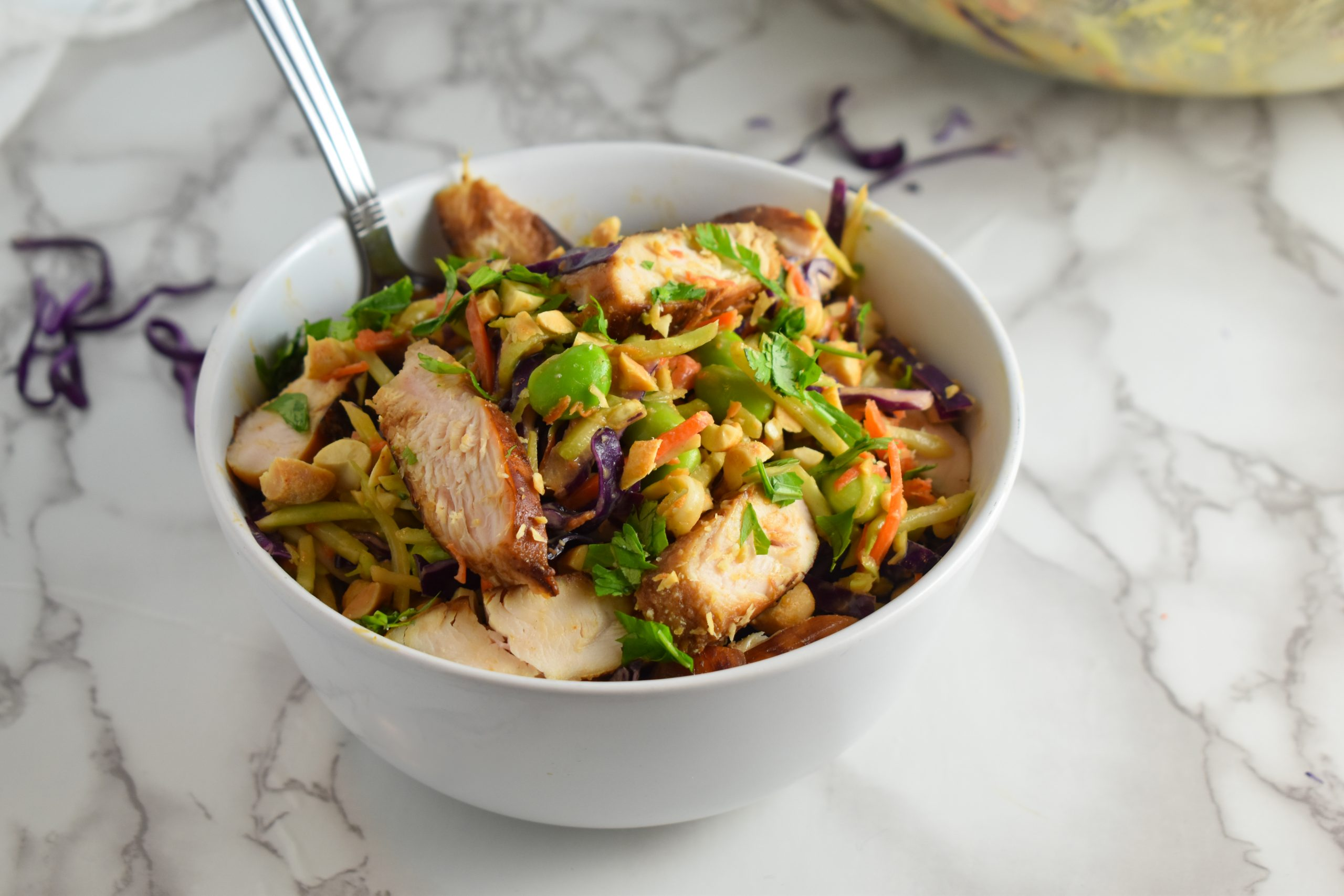 Photo of Asian Broccoli Slaw with Chicken